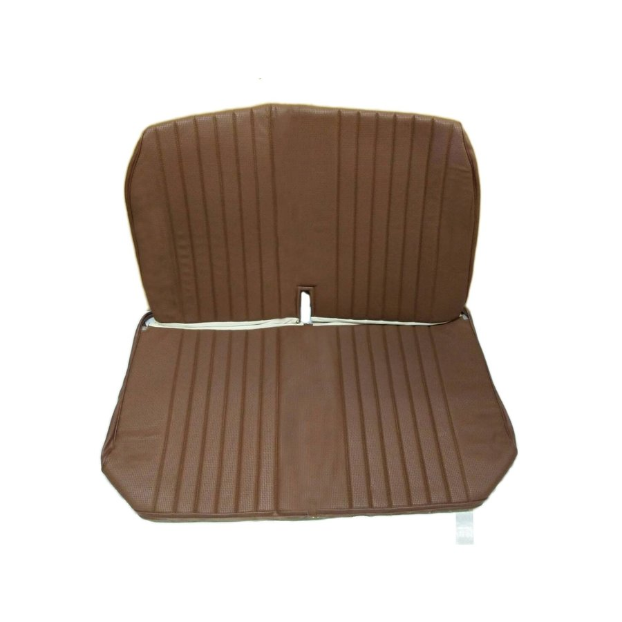 Original seat cover set for front bench with closed sides in brown leatherette DYANE Citroën 2CV-1