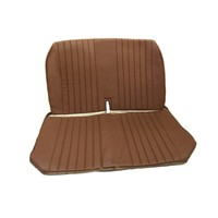 thumb-Original seat cover set for front bench with closed sides in brown leatherette DYANE Citroën 2CV-3