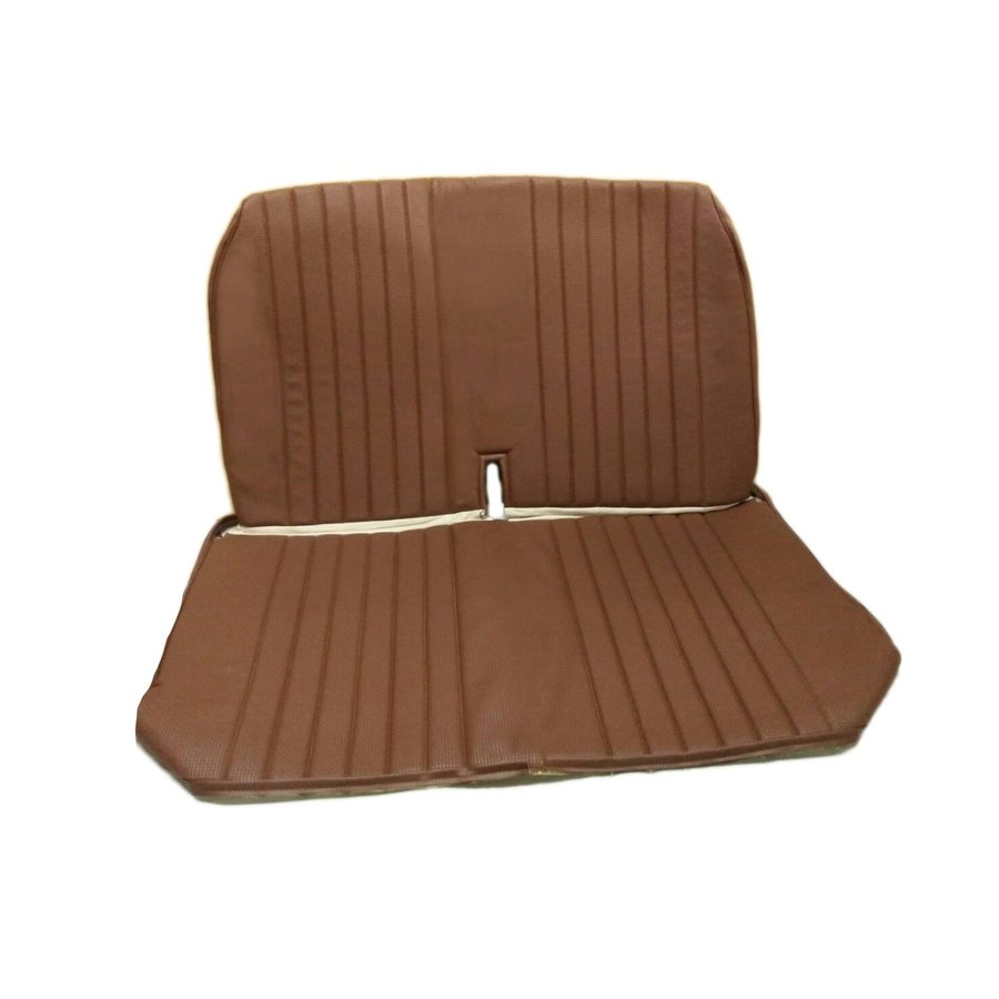 Original seat cover set for front bench with closed sides in brown leatherette DYANE Citroën 2CV-4