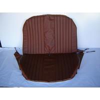 thumb-Achterbankhoes bruin skai met gesloten zijkanten Citroën 2CV-1