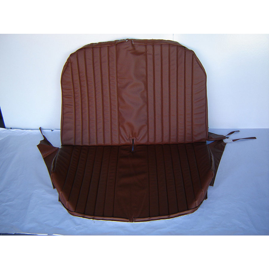 Original seat cover set for rear bench with closed sides in brown leatherette Dyane Citroën 2CV-1
