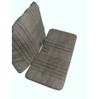 thumb-Original seat cover set for front bench in blue denim leatherette Dyane Citroën 2CV-1