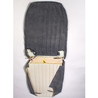 thumb-Original seat cover set for front R seat in blue denim leatherette (2 round angles) Citroën 2CV-1