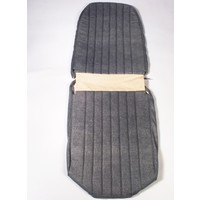 thumb-Original seat cover set for front R seat in blue denim leatherette (2 round angles) Citroën 2CV-3