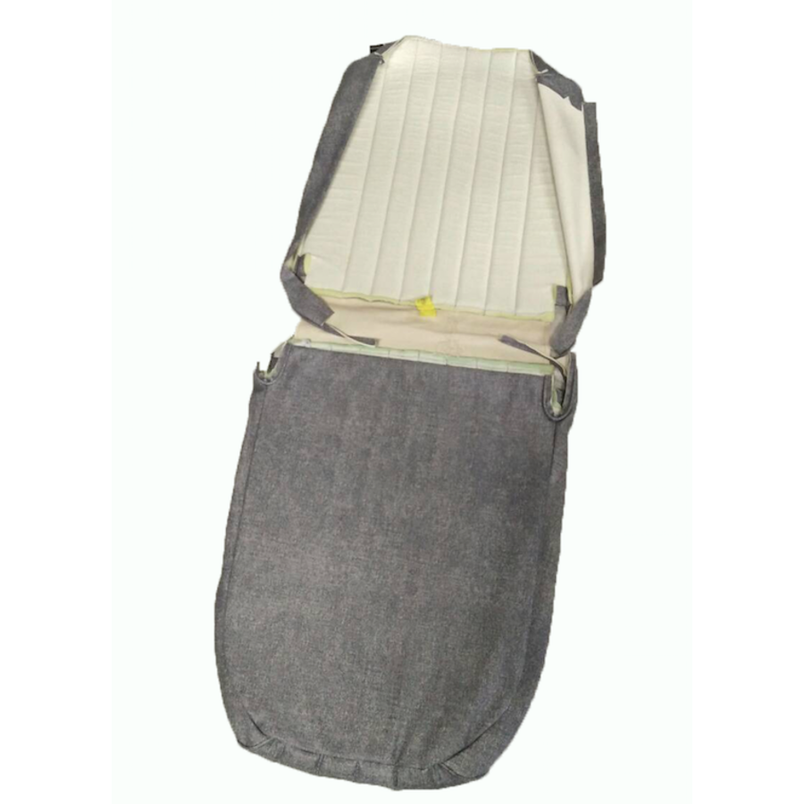 Original seat cover set for front R seat in blue denim leatherette (2 round angles) Citroën 2CV-6