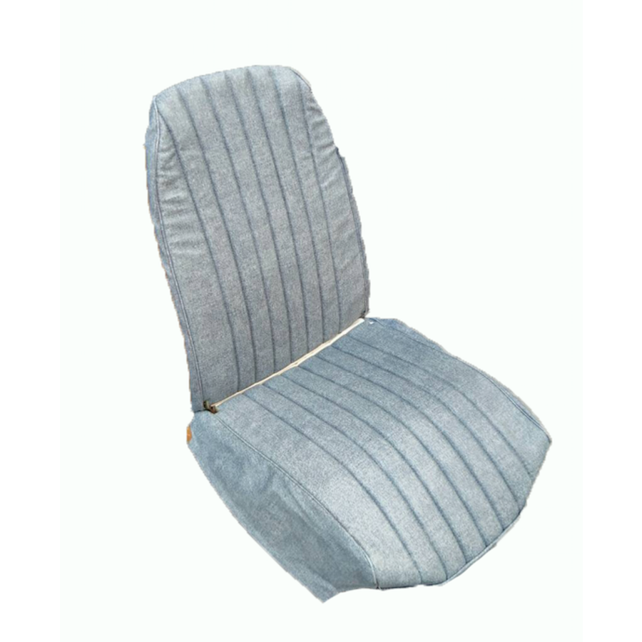 Original seat cover set for front R seat in blue denim leatherette (2 round angles) Citroën 2CV-7