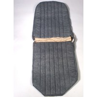 thumb-Original seat cover set for front L seat in blue denim leatherette (2 round angles) Dyane Citroën 2CV-1