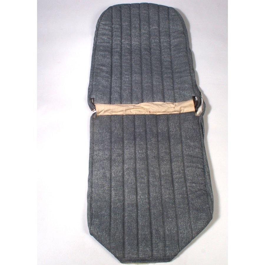 Original seat cover set for front L seat in blue denim leatherette (2 round angles) Dyane Citroën 2CV-1