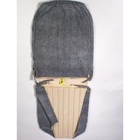 thumb-Original seat cover set for front L seat in blue denim leatherette (2 round angles) Dyane Citroën 2CV-2