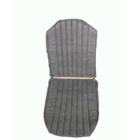 thumb-Original seat cover set for front L seat in blue denim leatherette (2 round angles) Dyane Citroën 2CV-3