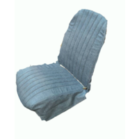 thumb-Original seat cover set for front L seat in blue denim leatherette (2 round angles) Dyane Citroën 2CV-4