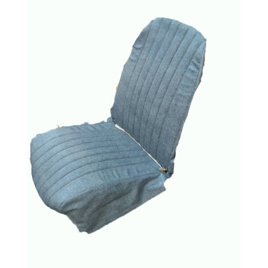 Original seat cover set for front L seat in blue denim leatherette (2 round angles) Dyane Citroën 2CV-4