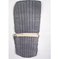 thumb-Original seat cover set for front R seat in blue denim leatherette (1 round angle) Dyane Citroën 2CV-3