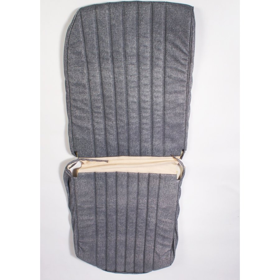 Original seat cover set for front R seat in blue denim leatherette (1 round angle) Dyane Citroën 2CV-4