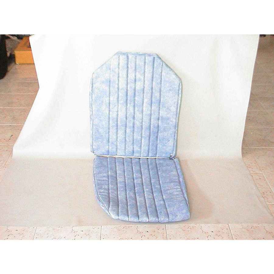 Original seat cover set for front L seat in blue denim leatherette (1 round angle) Dyane Citroën 2CV-1