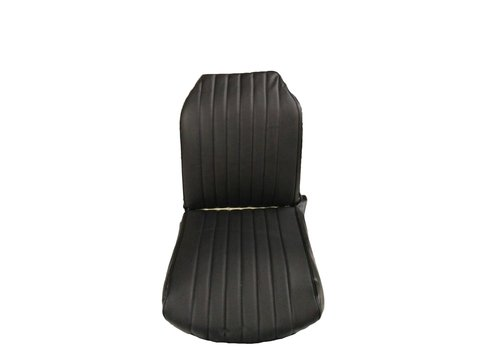 Original seat cover set for front R seat in black leatherette (2 round angles) Citroën 2CV