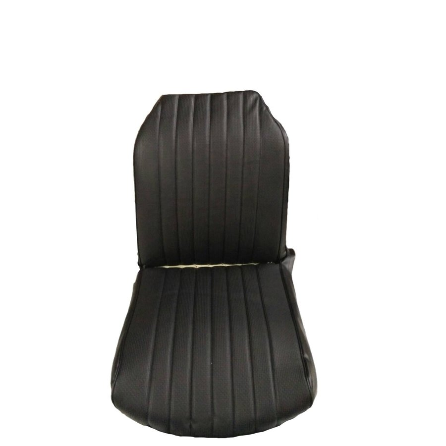 Original seat cover set for front R seat in black leatherette (2 round angles) Citroën 2CV-2