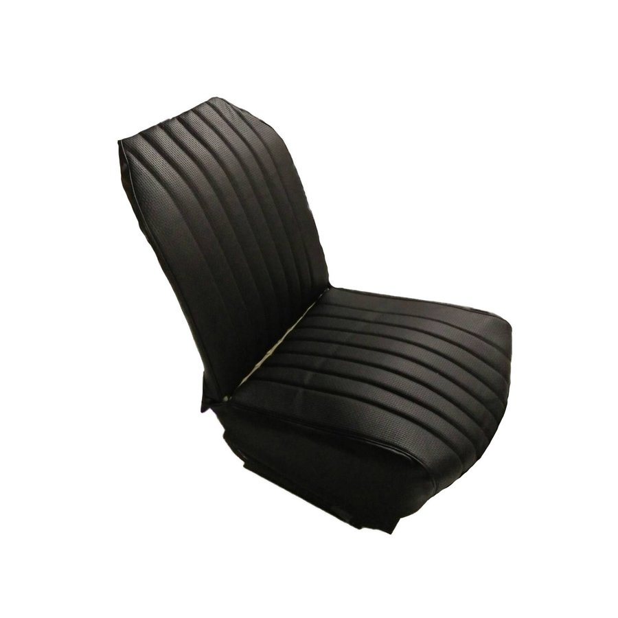Original seat cover set for front R seat in black leatherette (2 round angles) Citroën 2CV-3