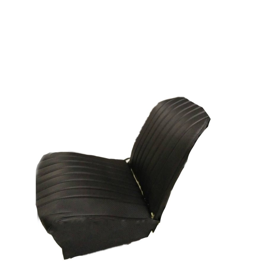 Original seat cover set for front L seat in black leatherette (2 round angles) Dyane Citroën 2CV-1
