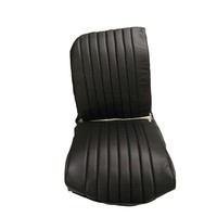 thumb-Original seat cover set for front R seat in black leatherette (1 round angle) Dyane Citroën 2CV-1