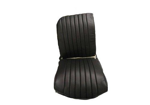 2CV Voorstoelhoes zwart skai RV 1 ronde hoek Citroën 2CV