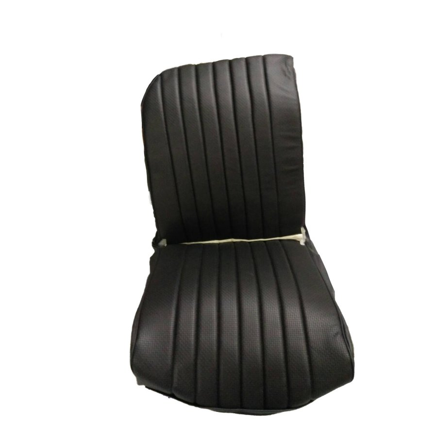 Original seat cover set for front R seat in black leatherette (1 round angle) Dyane Citroën 2CV-1