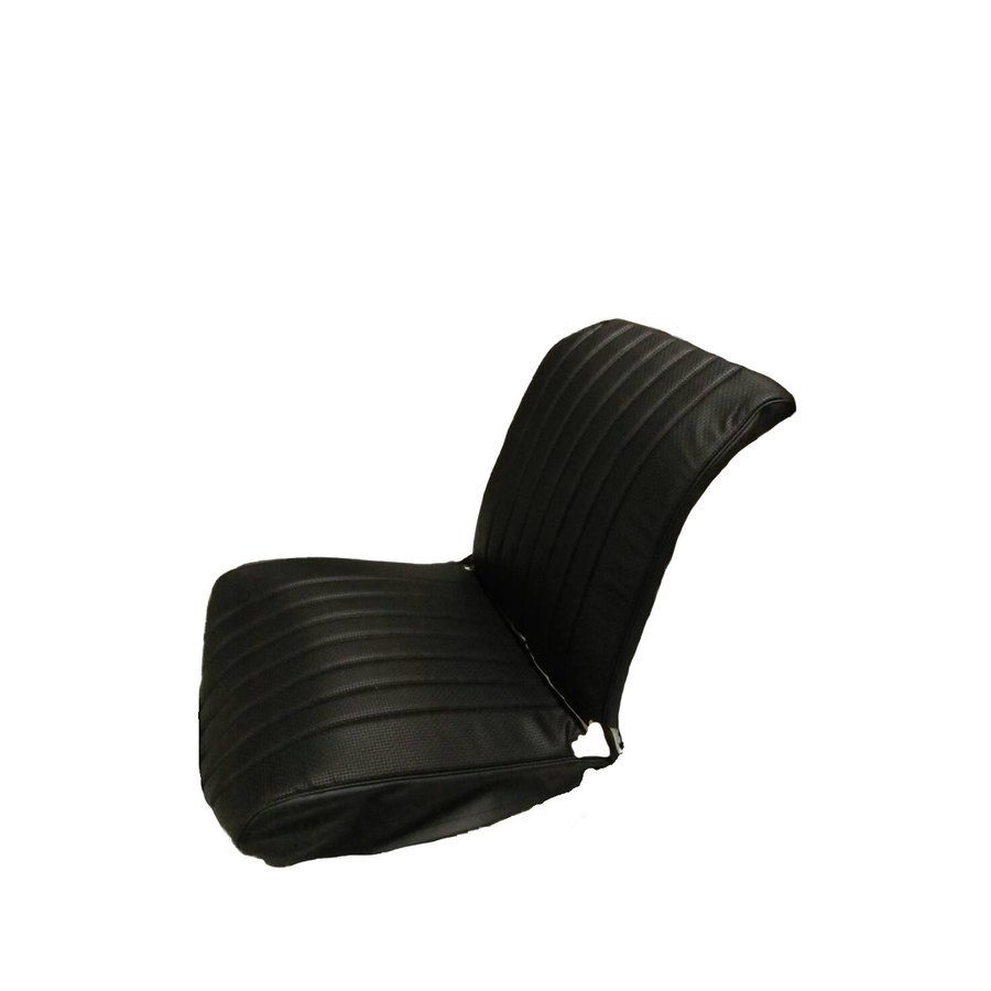Original seat cover set for front R seat in black leatherette (1 round angle) Dyane Citroën 2CV-2