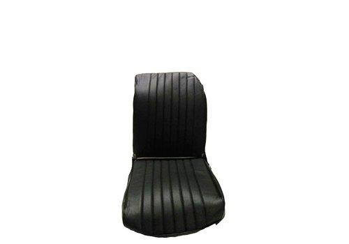 2CV Original Sitzbezug Vordersitz links schwarz Kunstleder (Rückenlehne mit 1 abgerundeten Ecke) Dyane Citroën 2CV