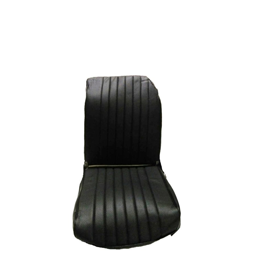 Original seat cover set for front L seat in black leatherette (1 round angle) Dyane Citroën 2CV-1