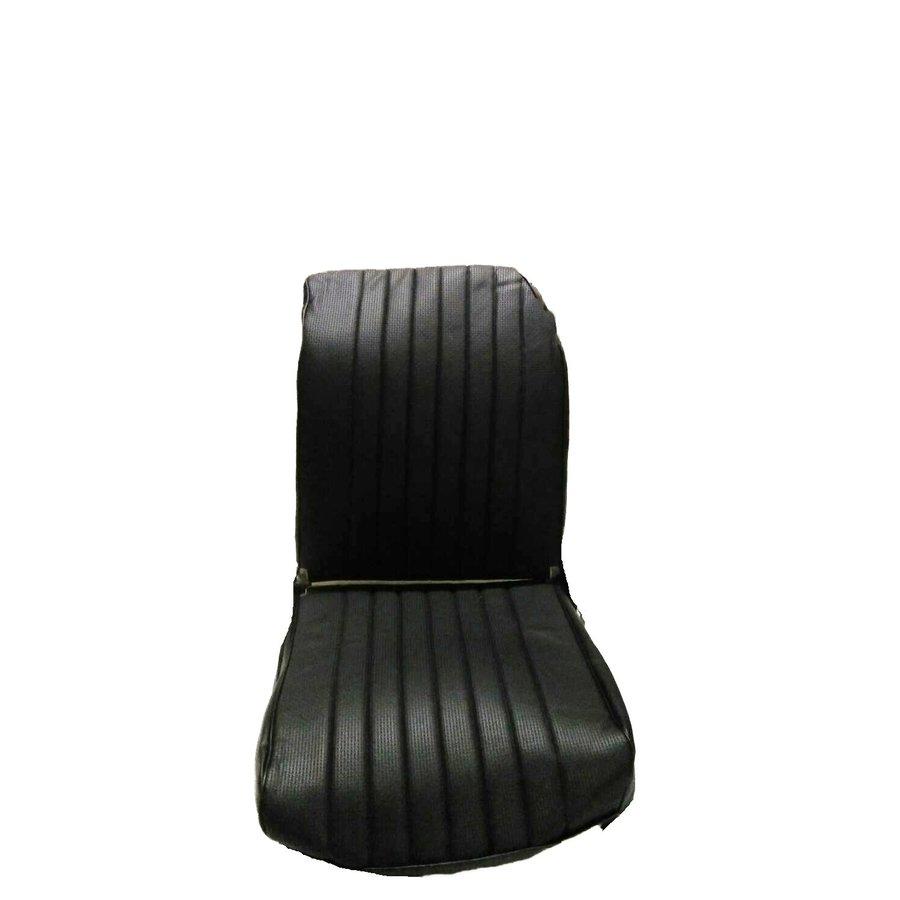 Voorstoelhoes zwart skai LV 1 ronde hoek Citroën 2CV-1