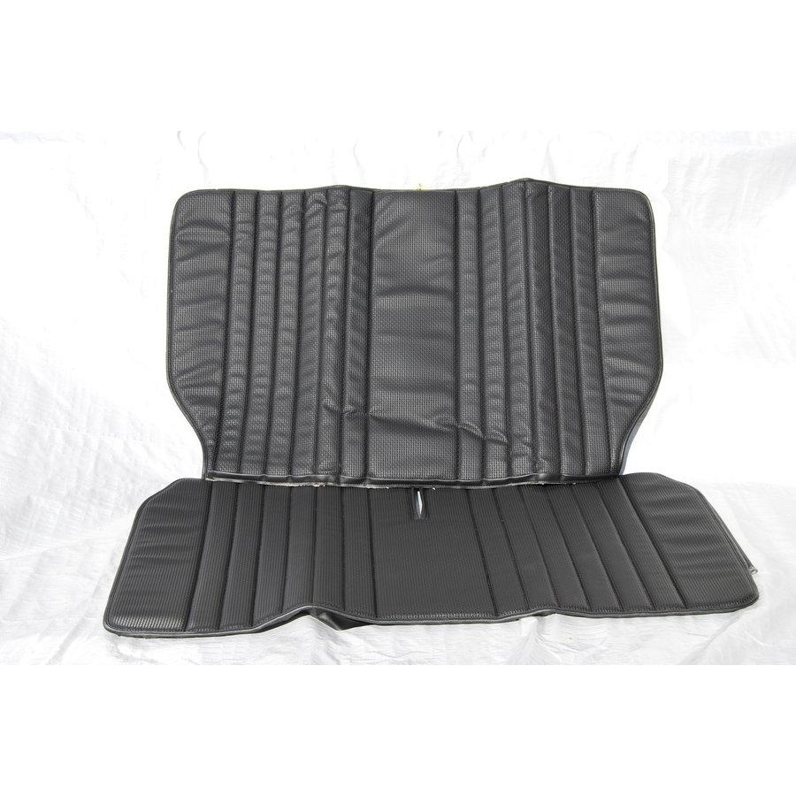 Original seat cover set for rear bench in black leatherette Dyane Citroën 2CV-2