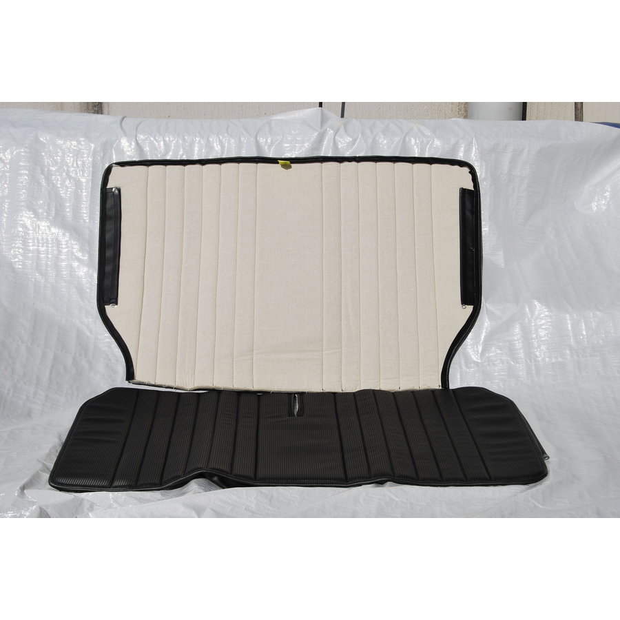 Original seat cover set for rear bench in black leatherette Dyane Citroën 2CV-3