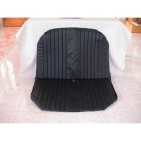 thumb-Housse d'origine pour banquette AR en simili noir avec cotés renfermés pour DYANE Citroën 2CV-1