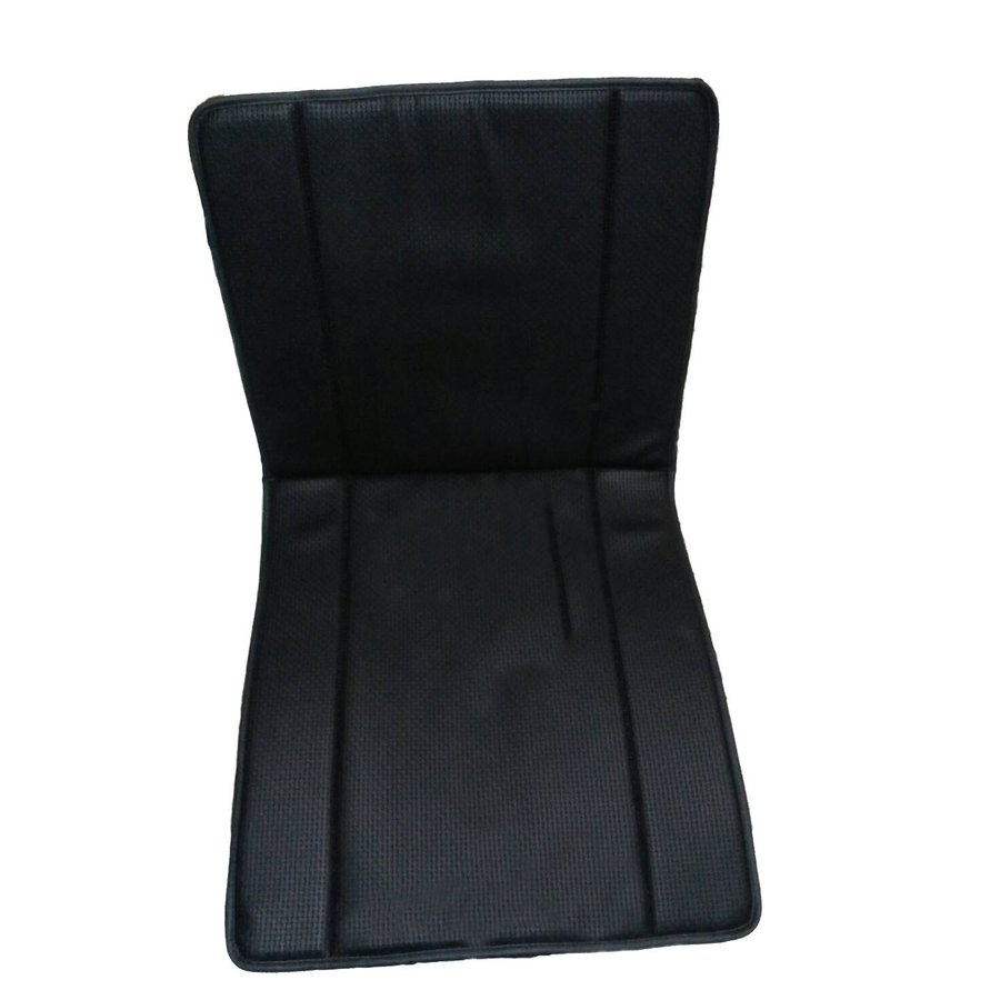 Original seat cover set for front seat in black leatherette years '50 '60 Citroën 2CV-2