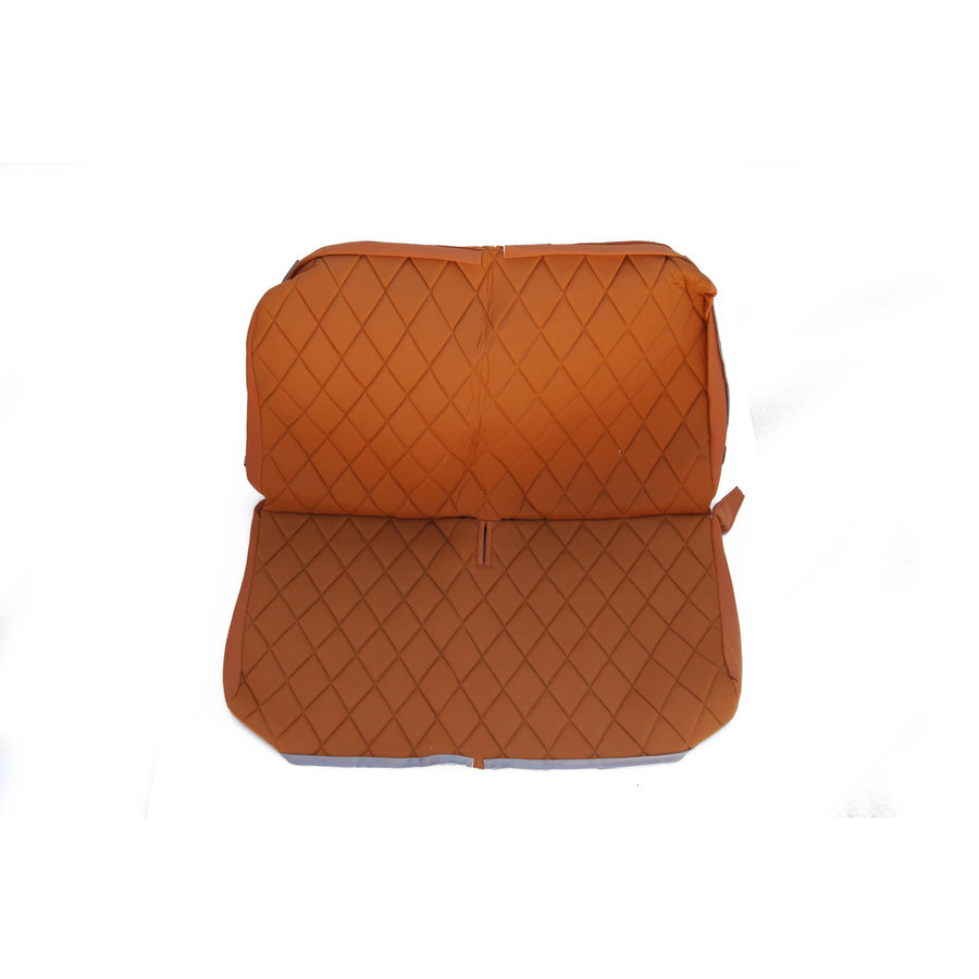 Original seat cover set for rear bench in gold color cloth Charleston Citroën 2CV-1