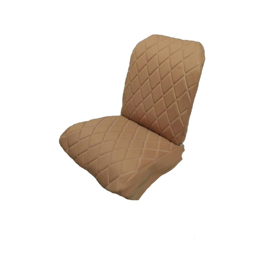 Original seat cover set for front R seat (2 round angles) in gold color cloth Charleston Citroën 2CV-10