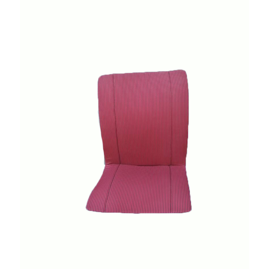 Original seat cover set for seat in red striped cloth (Exact Copie of the Original Cloth!) years '50 '60 Citroën 2CV-2