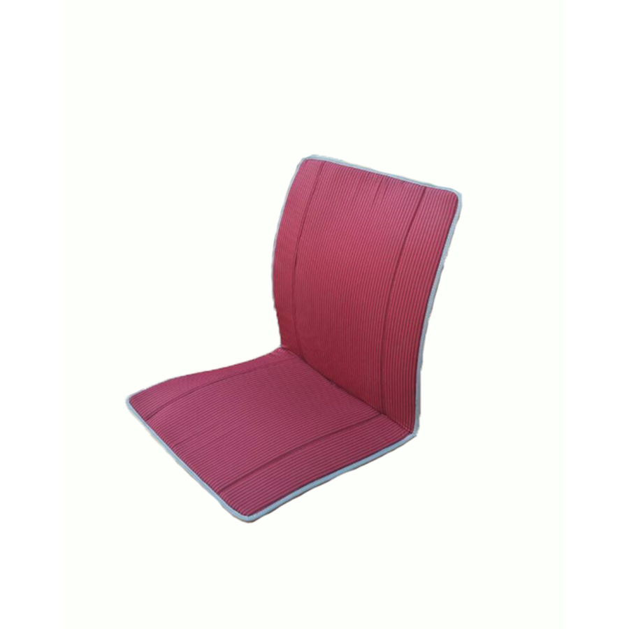 Original seat cover set for seat in red striped cloth (Exact Copie of the Original Cloth!) years '50 '60 Citroën 2CV-4
