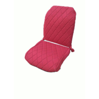 thumb-Original seat cover set for front R seat (2 round angles) in red cloth Charleston Citroën 2CV-3