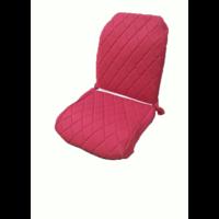 thumb-Original Sitzbezug Vordersitz rechts (Rückenlehne mit 2 abgerundeten Ecken) rot Stoff Charleston Citroën 2CV-4