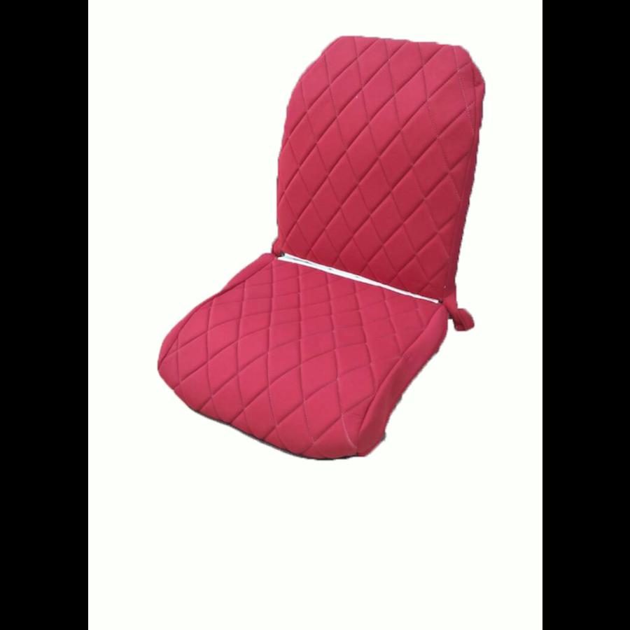 Original Sitzbezug Vordersitz rechts (Rückenlehne mit 2 abgerundeten Ecken) rot Stoff Charleston Citroën 2CV-4