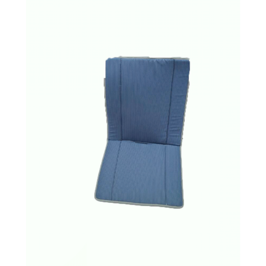 Original seat cover set for seat in blue striped cloth (Exact Copie of the Original Cloth!) years '50 '60 Citroën 2CV-3