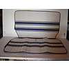 2CV Original seat cover set for rear bench in white/blue cloth Transat / France 3 Citroën 2CV