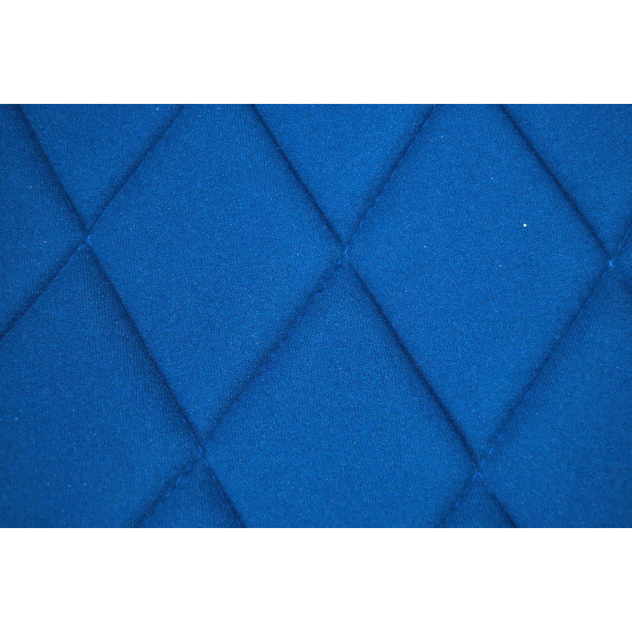 Seat cover set for front R seat (2 round angles) in blue cloth Charleston Citroën 2CV-8