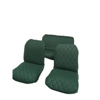 thumb-Original seat cover set for rear bench in green cloth Charleston Citroën 2CV-2