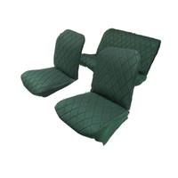 thumb-Original-Sitzbezug Satz: 2 Vordersitze + 1Hintersitzbank grün Stoff Charleston Citroën 2CV-3