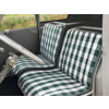 2CV Original Sitzbezug Sitz Stoff grün Raute (Exakte Kopie von Original Schottenkaro) Jahre '50'60 Citroën 2CV