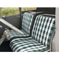 thumb-Original seat cover set for seat in green cloth (Exact Copie of the Original Scottish Design) years '50 '60 Citroën 2CV-1