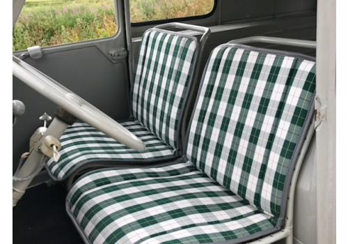 Original seat cover set for seat in green cloth (Exact Copie of the Original Scottish Design) years '50 '60 Citroën 2CV