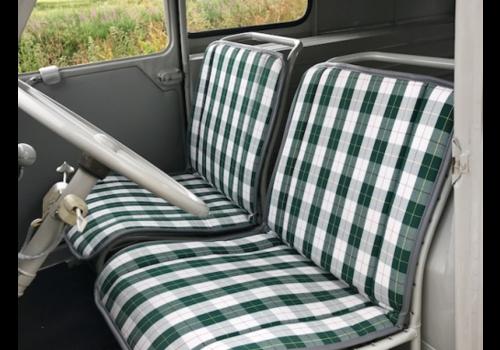 Original Sitzbezug Sitz Stoff grün Raute (Exakte Kopie von Original Schottenkaro) Jahre '50'60 Citroën 2CV